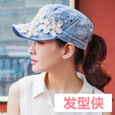 夏游鸭舌帽配哪些扎发清爽 长方脸女生梳扎辫子造型