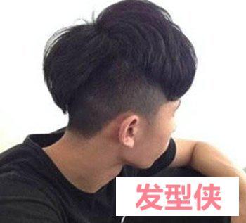 男生后脑勺发型 男生后脑v字发型图片