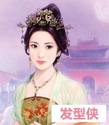 秦汉时期的手绘发髻图 汉代女子发髻
